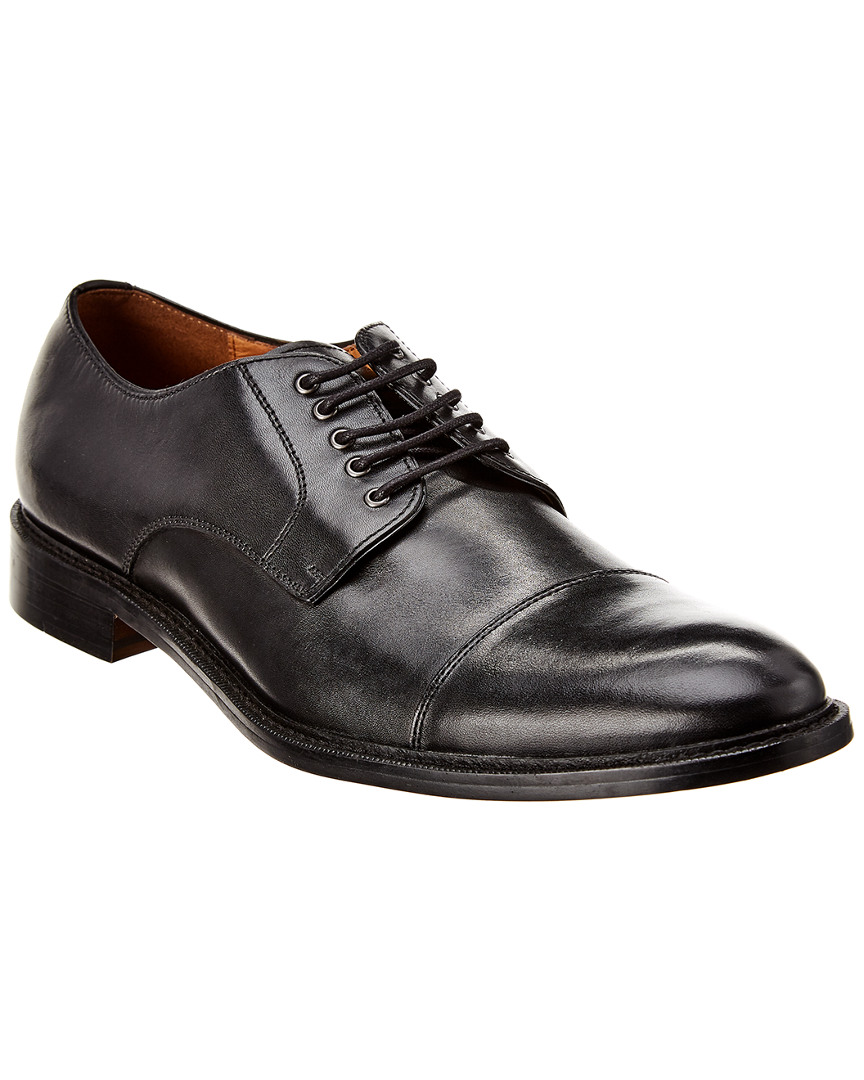 Details about Winthrop Shoes Cap Toe Leather Oxford, Black Leather