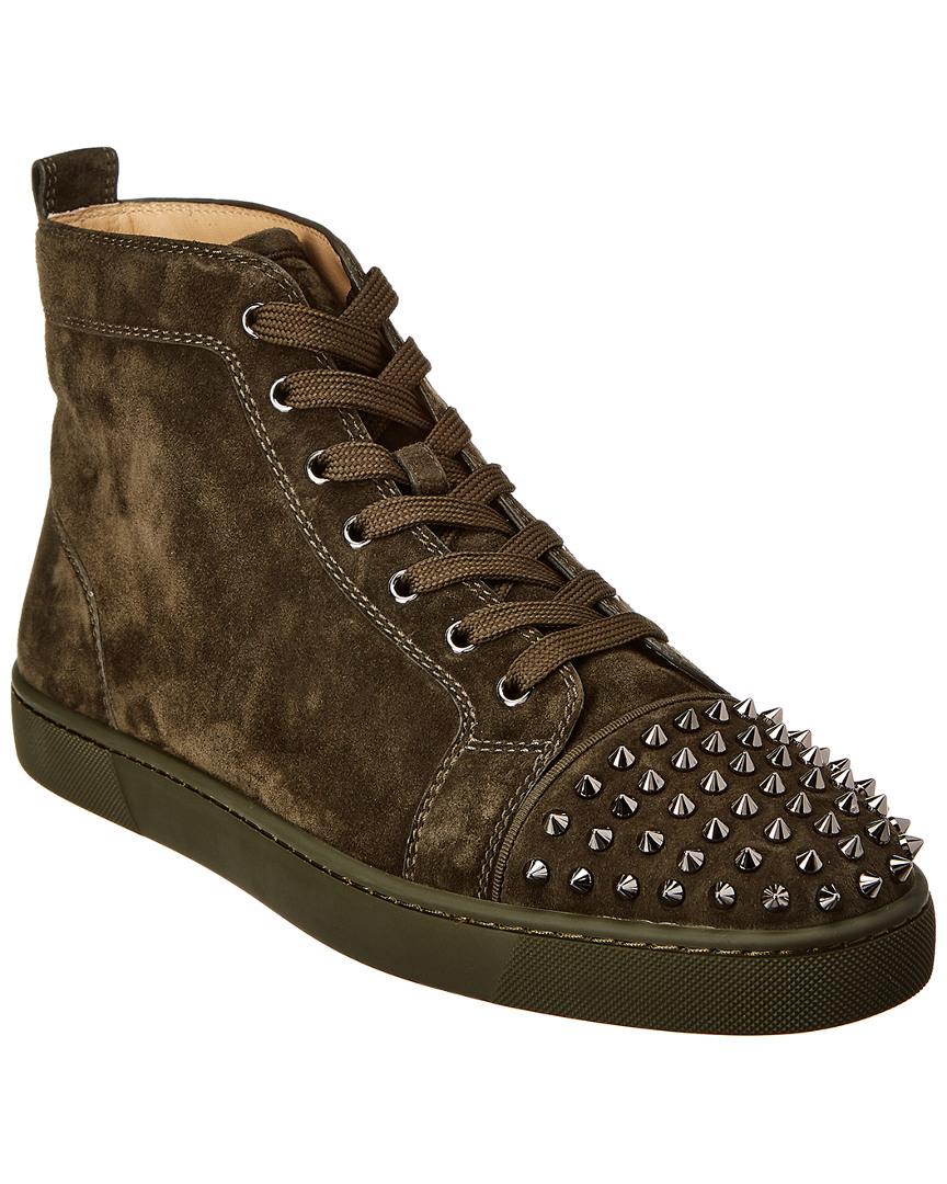 529ea1ac548 Christian Louboutin Louis Junior Spikes Suede Sneaker