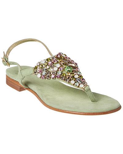 il Sandalo of Capri Embellished Suede Sandal