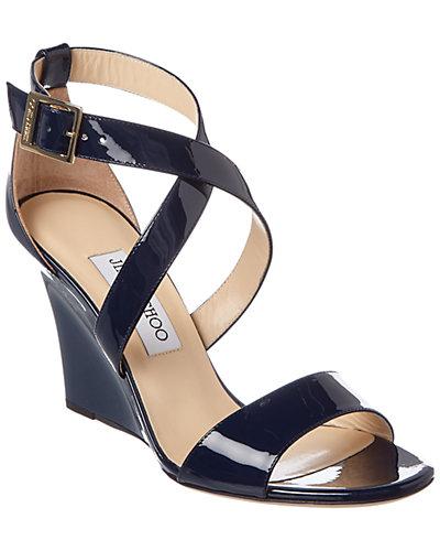 Jimmy Choo Fearne 85 Patent Wedge Sandal
