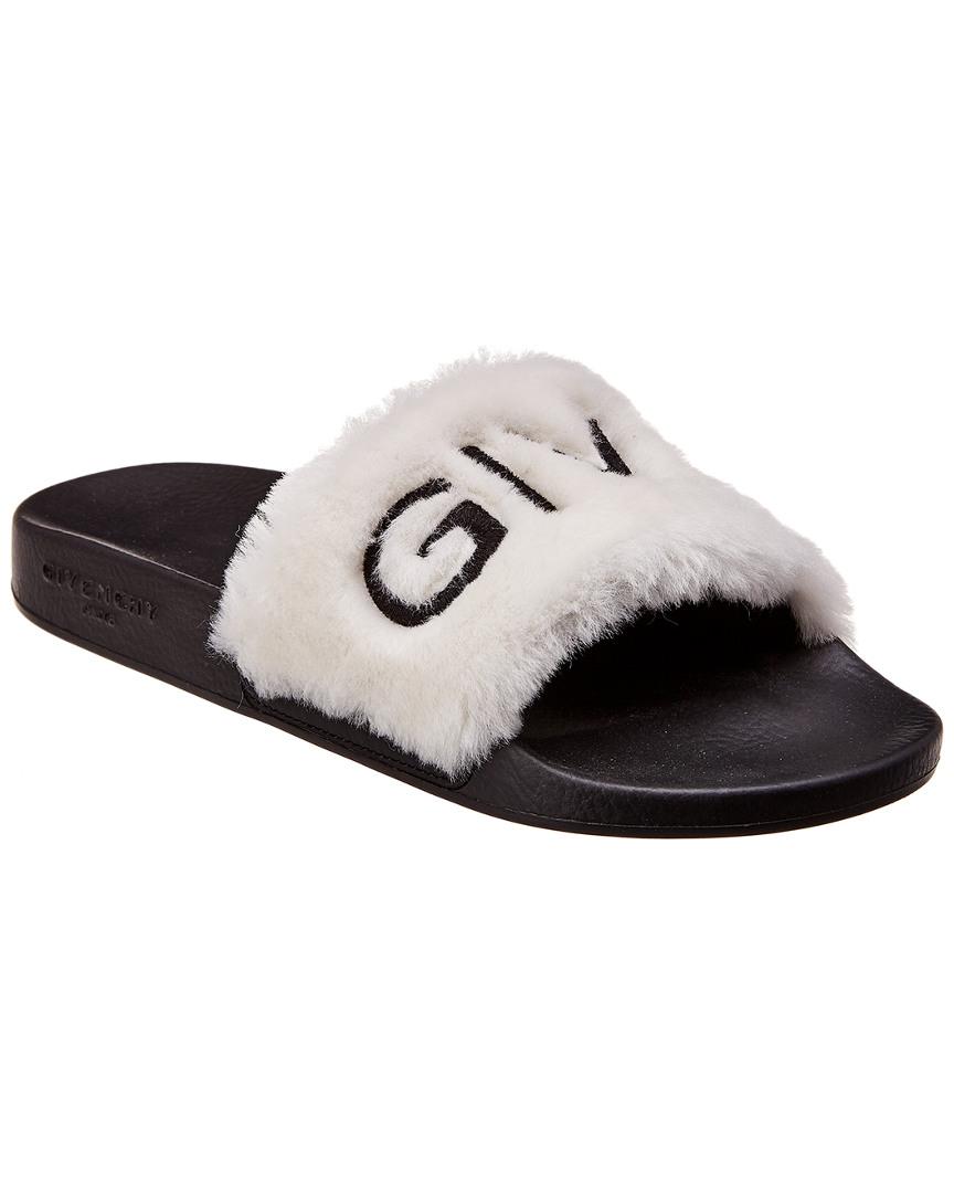 5385487fd14 Givenchy Fur Logo Slide