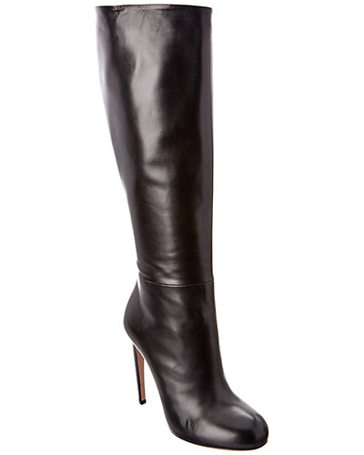 Gucci Heeled Leather Knee Boot