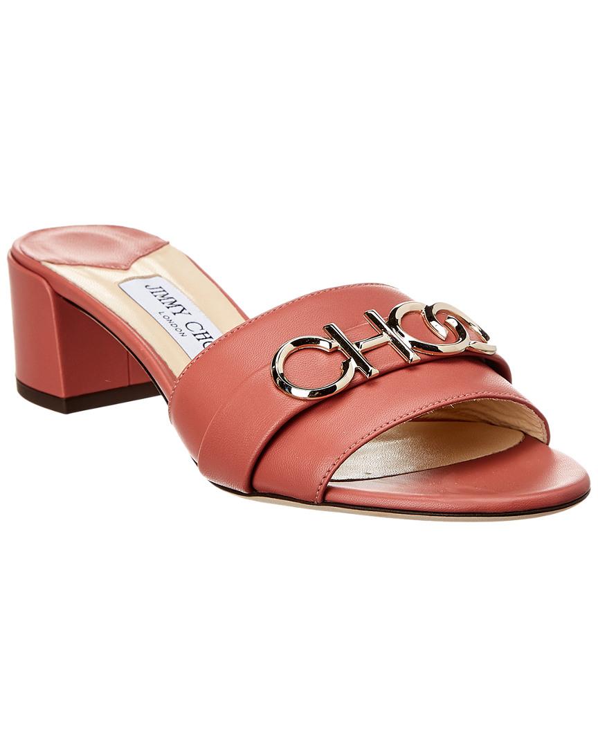00dd8d5bc880 Jimmy Choo Joni 40 Leather Slide Sandal