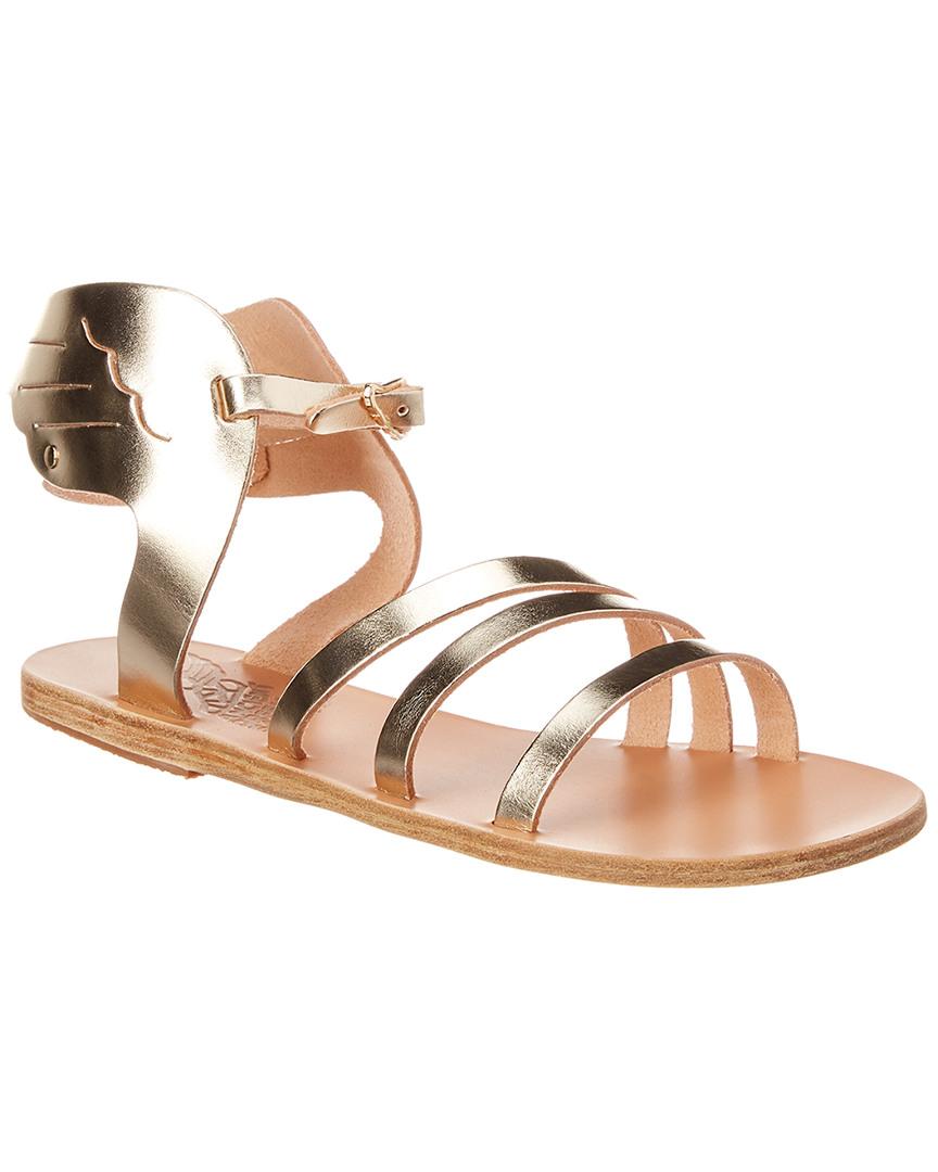 b6710bcadfd Details about Ancient Greek Sandals Ikaria Wing Metallic Leather Sandal  Women's