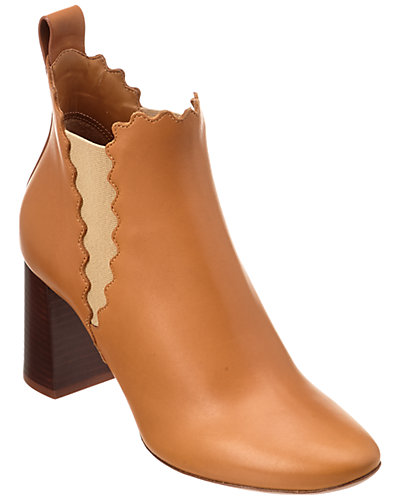 Chloé Lauren Leather Ankle Boot