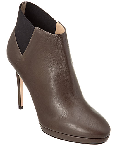 Jimmy Choo Talula 100 Grainy Calf Leather Ankle Boot