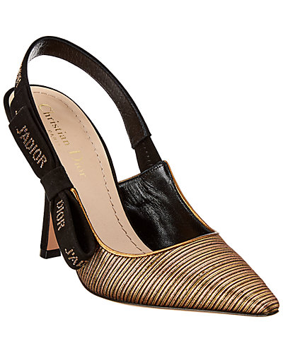 Dior Metallic Leather Slingback Pump by Dior