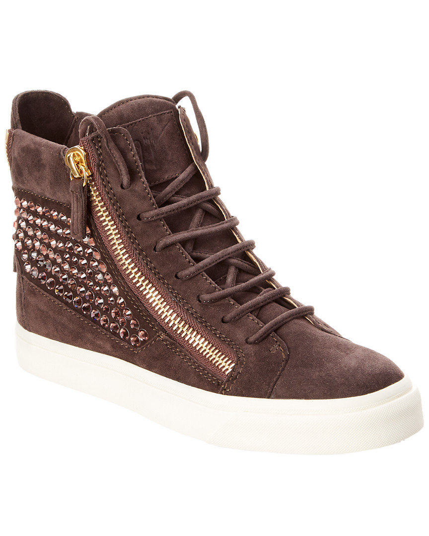 EMBELLISHED SUEDE HIGH