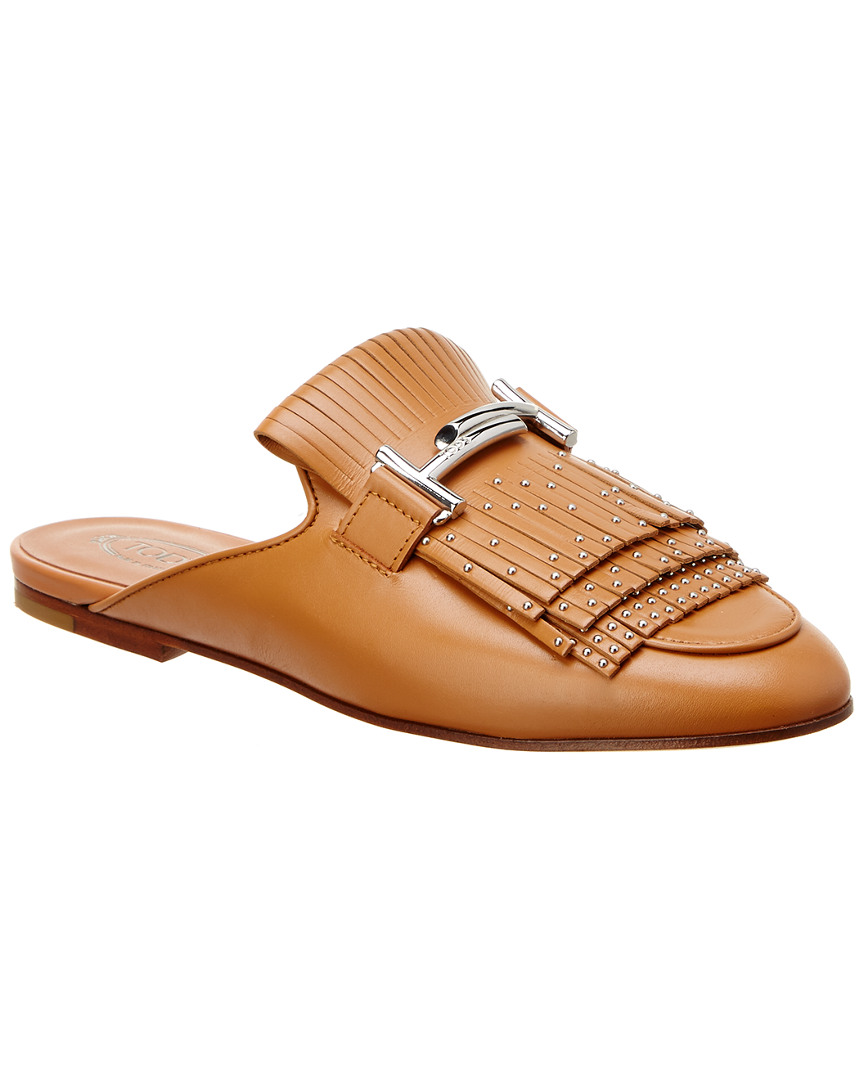 limited edition cheap price sale cheapest price Tod's Double T Fringe Leather Sl... fake sale online for nice cheap price best sale cheap price UQ0RoL3SXZ