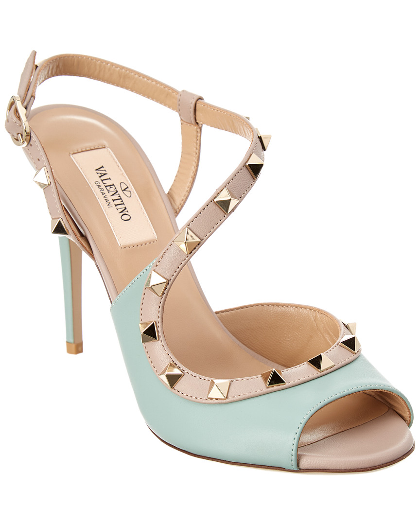 ROCKSTUD LEATHER SANDAL