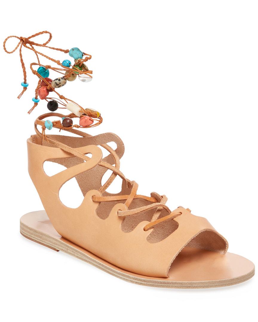 Ancient Greek Sandals ANTIGONE STONE LACE