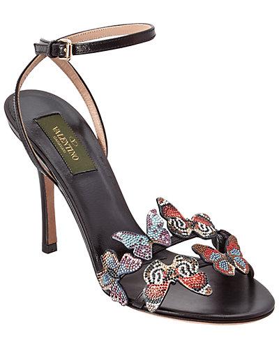Valentino Camu Butterfly Leather Sandal