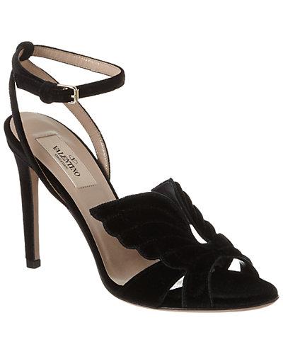 Valentino Angelicouture Velvet Sandal