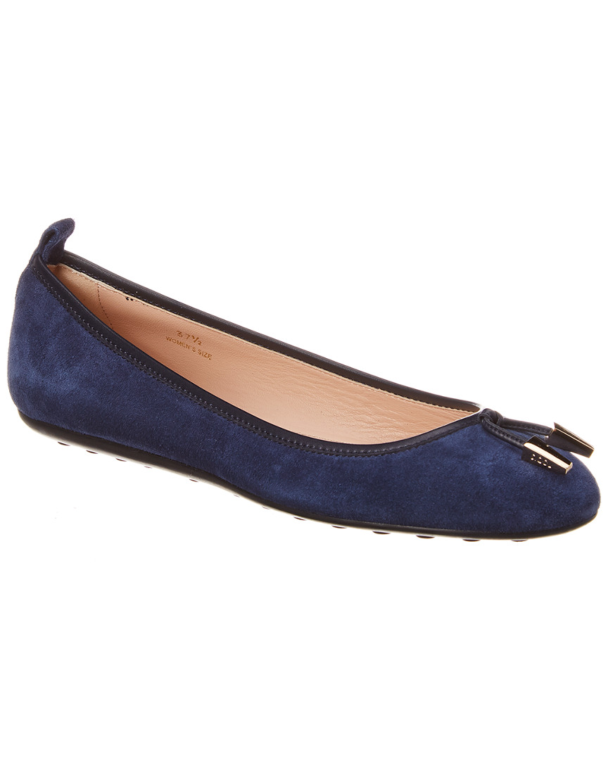 Details about Tod's Suede Ballerina Flat Blue Women's