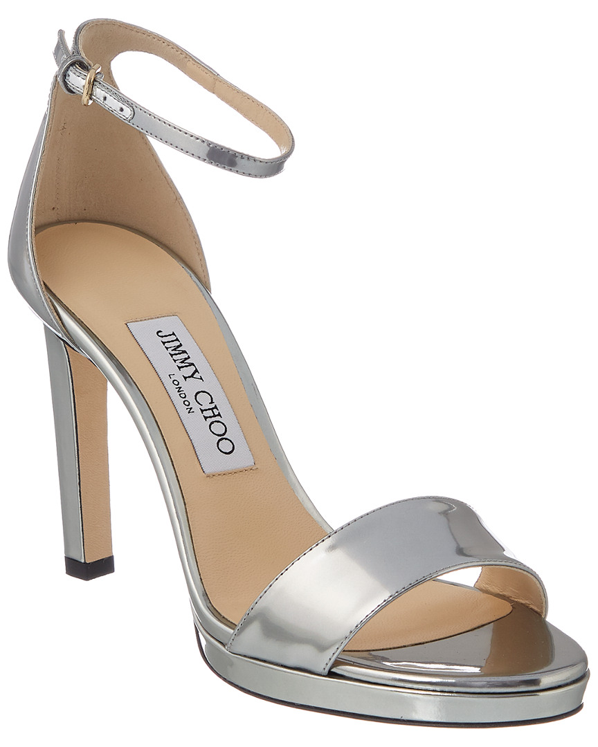 0f1811d68f9 Jimmy Choo Misty 100 Leather Sandal In Metallic