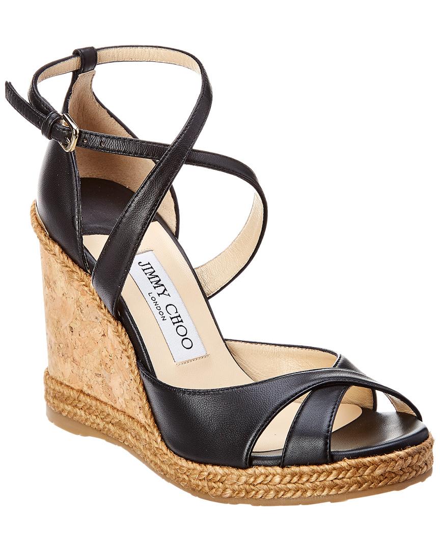 831fb9c7481a Jimmy Choo Alanah 105 Leather Wedge Sandal