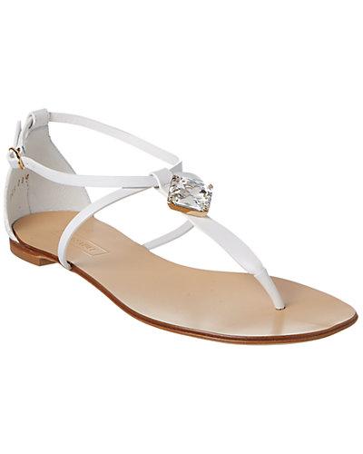 Casadei Embellished Leather Sandal