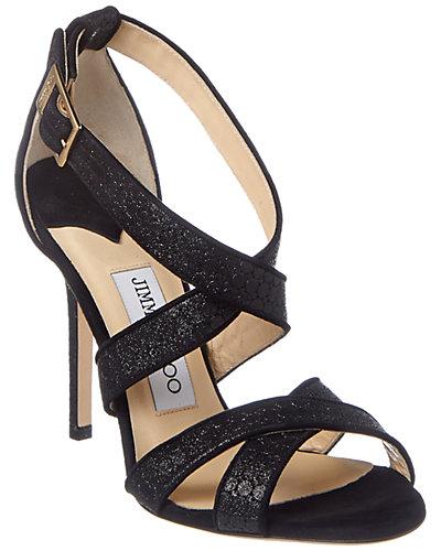 Jimmy Choo Lottie Embossed Glitter Sandal