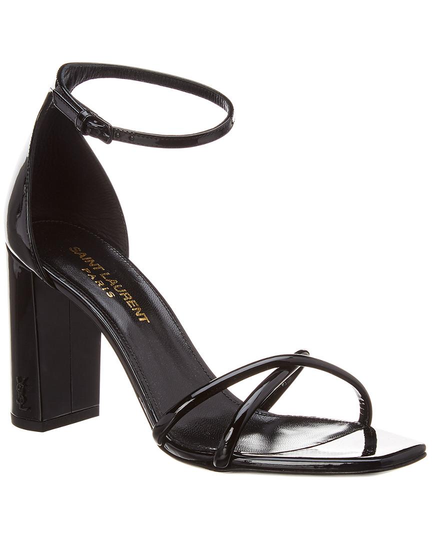 Saint Laurent Lou Lou Crisscross 90 Patent Sandal
