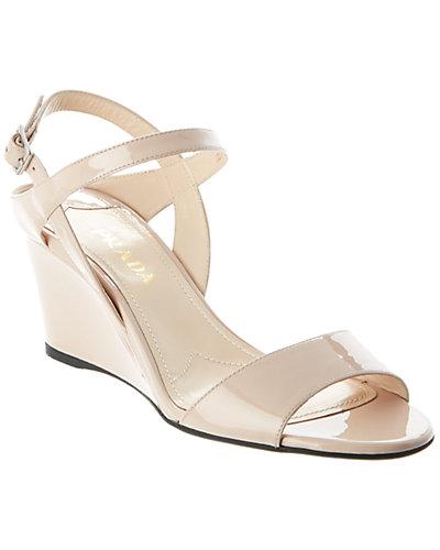 Prada Patent Wedge Sandal
