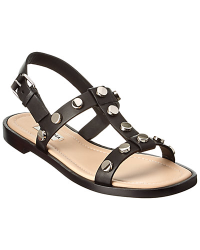Balenciaga Amp Studs Leather Sandal