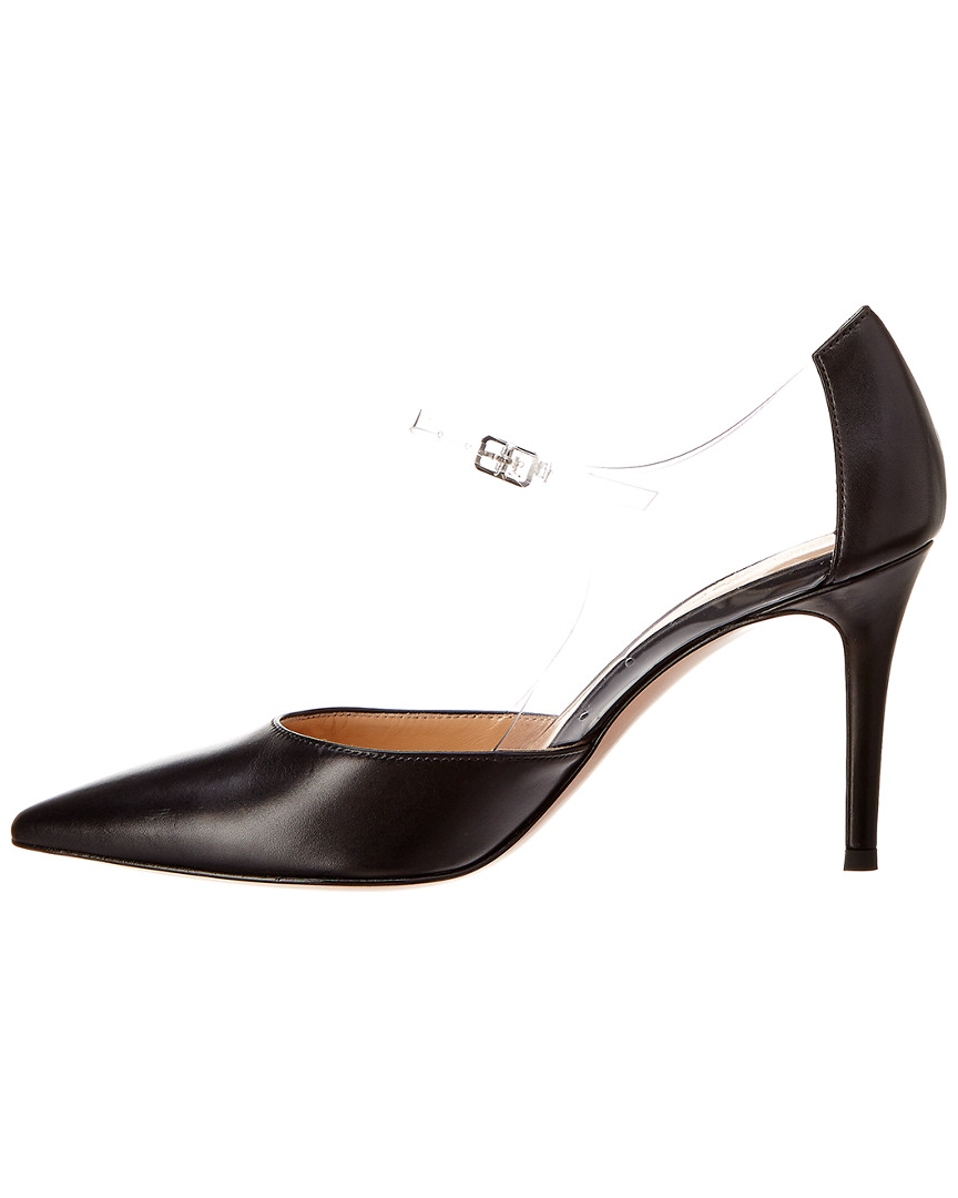 Gianvito Rossi Plexi 90 Leather Ankle Ankle Ankle Strap Pump 6bc9a2