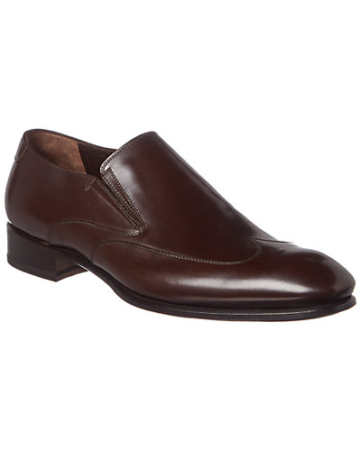 Caporicci Leather Slip-On Oxford
