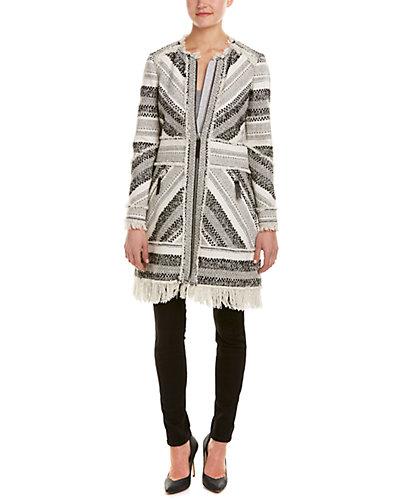 Rebecca Taylor Artisan Tweed Wool-Blend Coat