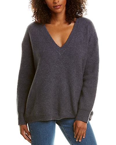 Rue La La — James Perse Oversized Cashmere & Silk-Blend Sweater