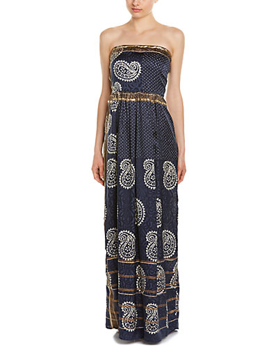 Calypso St. Barth Rosana Silk Maxi Dress