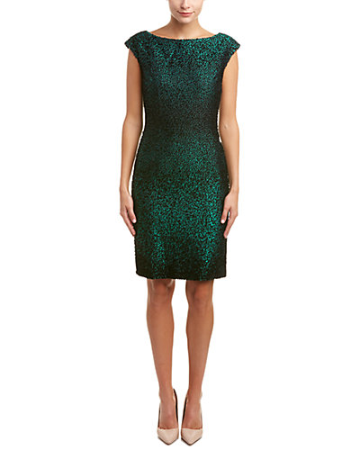 ESCADA Silk & Wool-Blend Sheath Dress