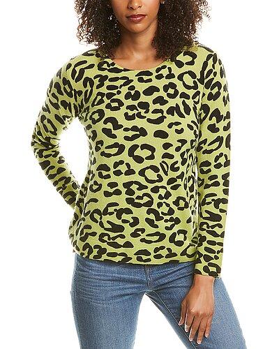 Rue La La — Hannah Rose Relaxed Leopard Cashmere Sweater