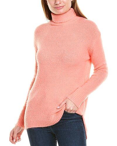 Rue La La — Chelsea & Theodore Funnel Neck Wool-Blend Sweater