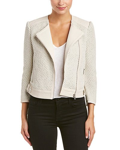 Joie Jaelle Leather-Blend Blazer