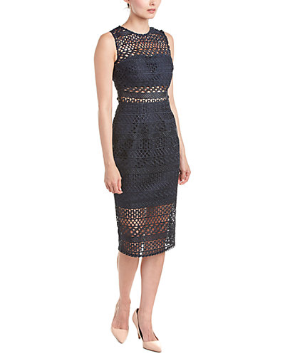 NICHOLAS Braided Lace Sheath Dress