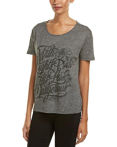 The Kooples Graphic Linen-Blend T-Shirt