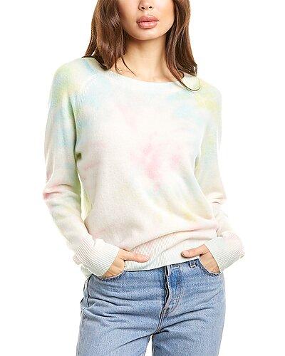 Rue La La — White + Warren Tie-Dye Cashmere Sweater
