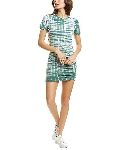 Rue La La — Monrow Alligator Tie-Dye Shirred Mini Dress