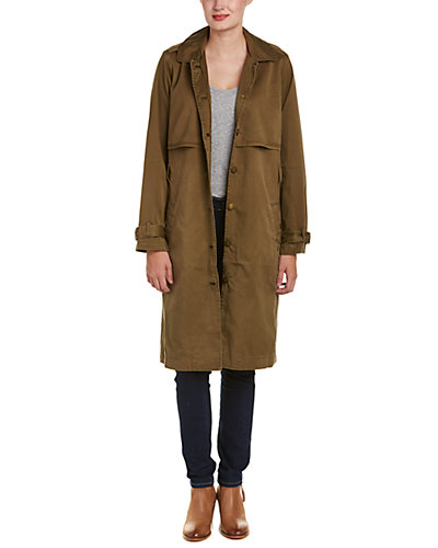 Current/Elliott The Storm Flap Trench Coat