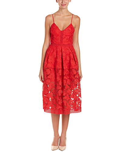 NICHOLAS Rouleau Lace A-Line Dress