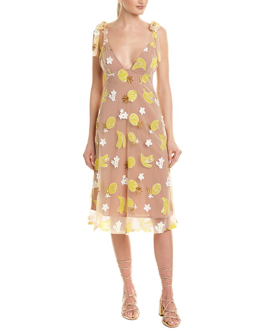 743b4e4b9172 For Love & Lemons Fruit Punch Sequin Midi Dress | eBay