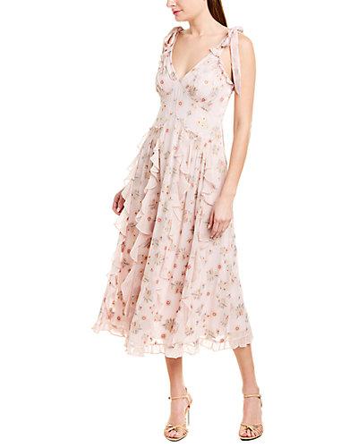 Rue La La — Rebecca Taylor Leander Silk-Blend Midi Dress
