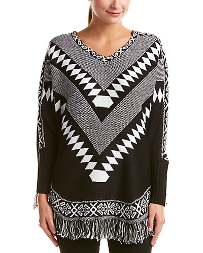 Romeo & Juliet Couture Fringe Poncho