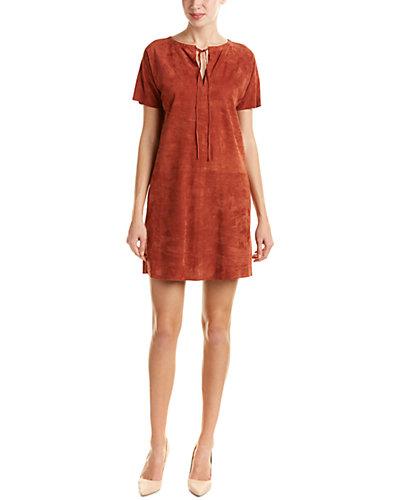 Theory Alisia S.Benna Suede Tunic Dress