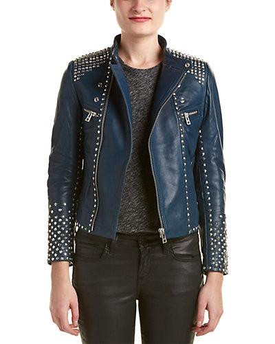 Zadig & Voltaire Luxy Studs Leather Jacket