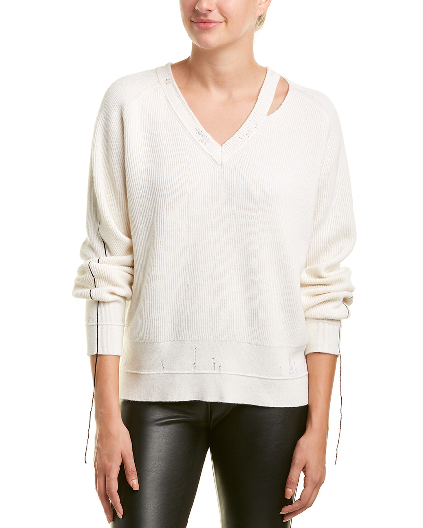 Helmut Lang Ribbed Wool & Cashmere-Blend Sweater 14112089310000