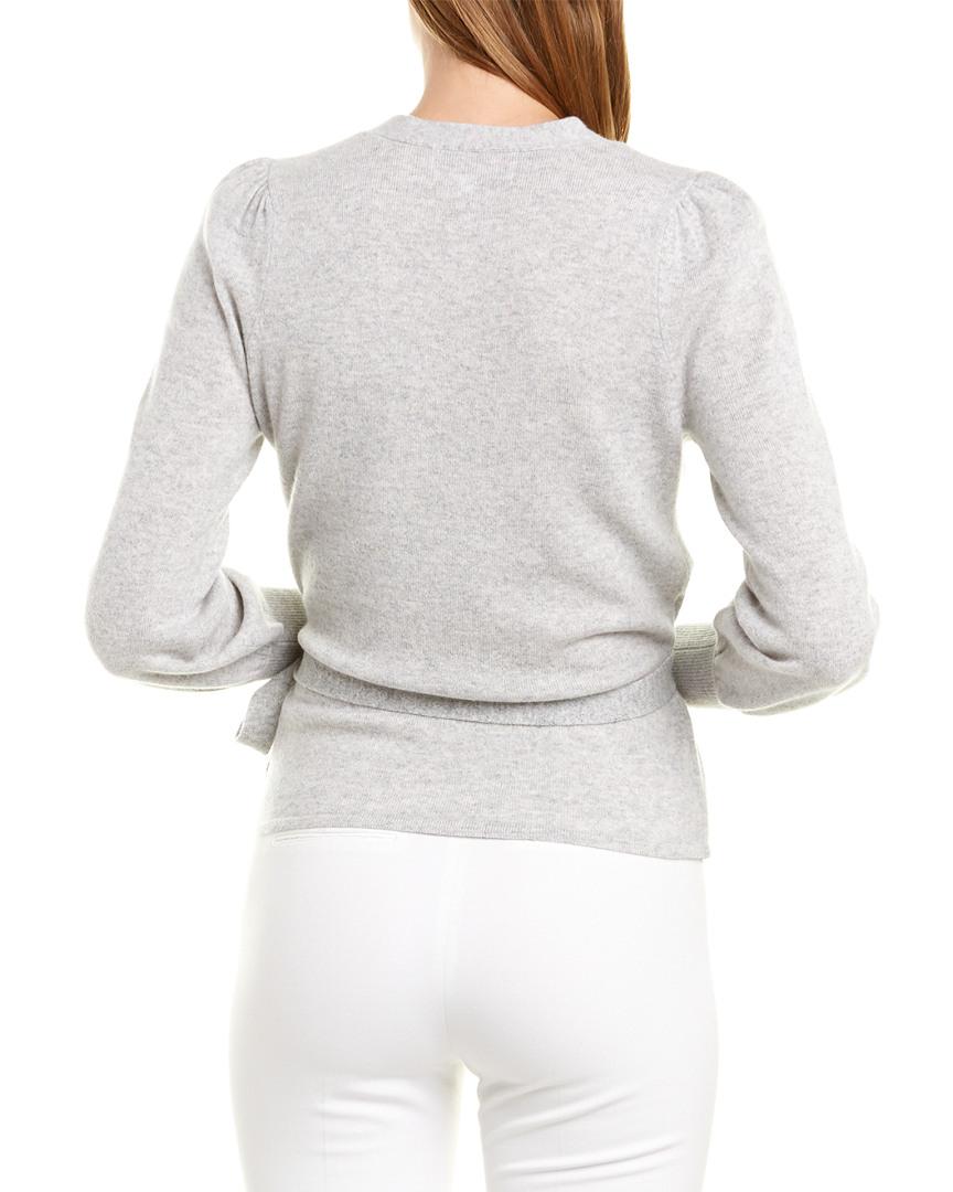 Design History Cashmere Wrap Sweater Blue Women's | eBay