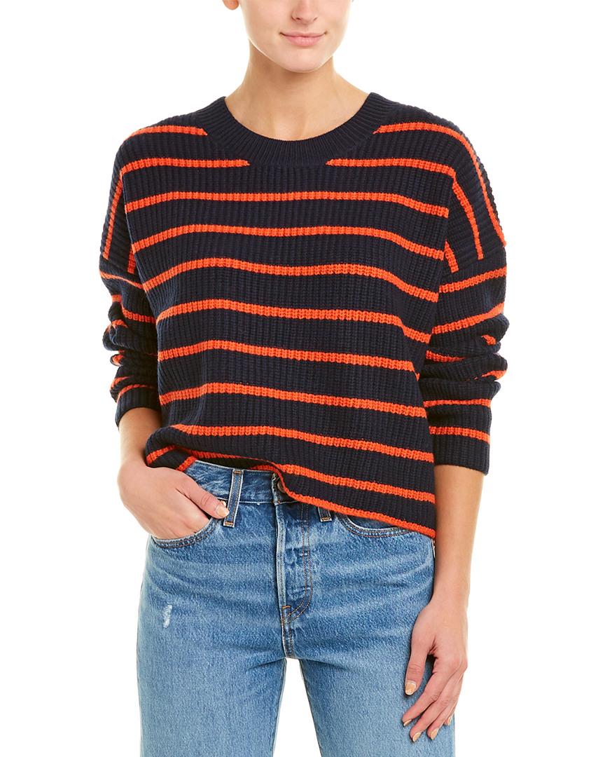 A-L-C-Portland-Wool-Sweater-Women-039-s-Blue-Xs