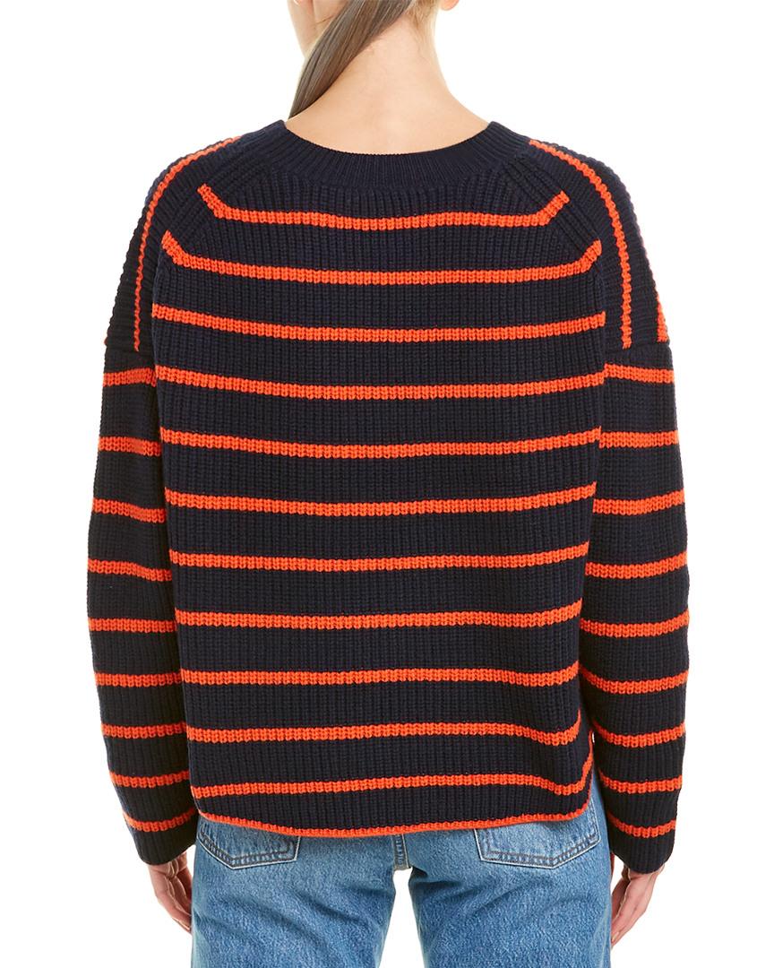 A-L-C-Portland-Wool-Sweater-Women-039-s-Blue-Xs miniature 2