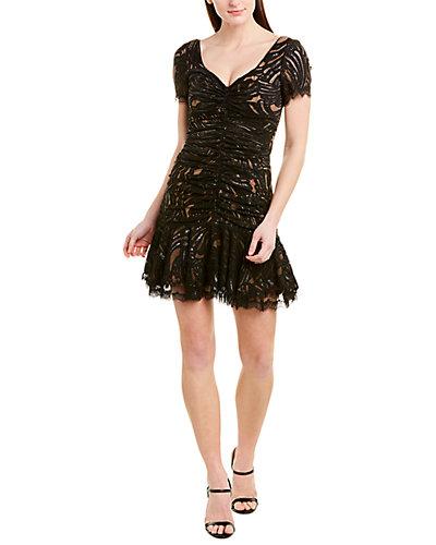 Rue La La — Jonathan Simkhai Ruched Lace Mini Dress